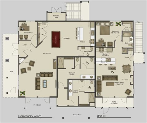 interior floor plans mega villa plans clubhouse plan pictures apartments sle