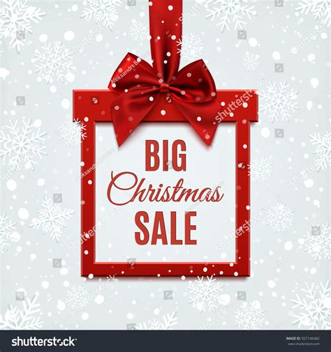 big christmas sale square banner form stock vector