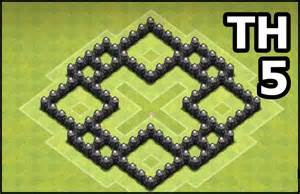 Th5 base defense clash of clans town hall 5 base coc th5 base