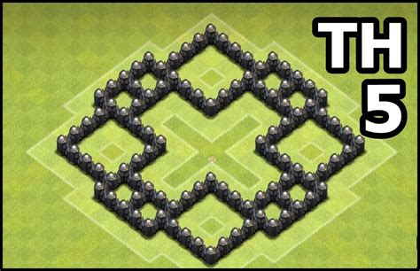 coc village layout th5 youtube kids clash of clans town hall 5 coc th5 base