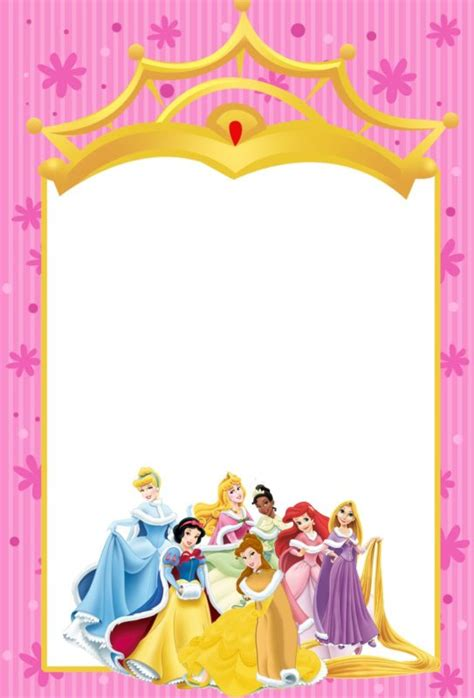 princess theme invitation template printable disney princesses invitations free printable invitation templates