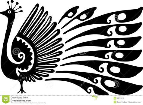 dibujo 233 tnico decorativo del pavo real blanco y negro dise 241 o del pavo real foto de archivo libre de regal 237 as