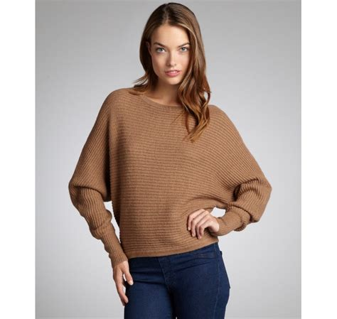 knit pattern dolman sweater bcbgmaxazria camel ribbed knit dolman sleeve camille