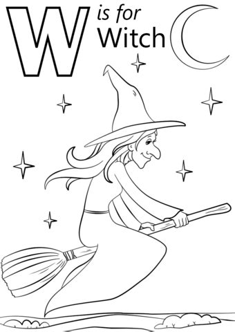 Free W Coloring Pages by W Is For Witch Coloring Page Free Printable Coloring Pages