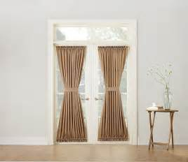 Patio Door Curtain Panel Sun Zero Barrow Room Darkening Patio Door Curtain Panel 54 By 72 Quot Taupe Ebay