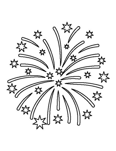 firework template fireworks pattern use the printable outline for crafts