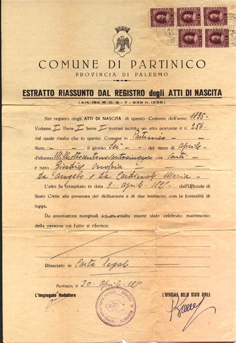 Italian Birth Records Free Giortone