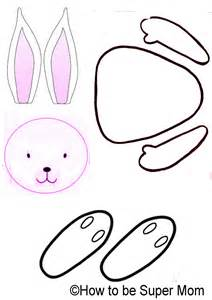 easter bunny craft template march 2013 cook n bake with
