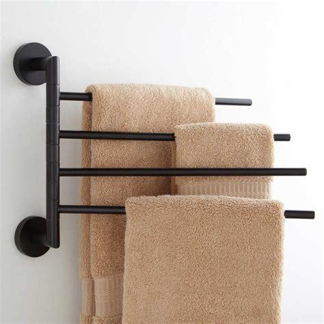 swing arm towel bath wall towel bar signaturehardware com