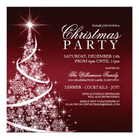 elegant christmas formal christmas dinner party party elegant red christmas party invitation zazzle