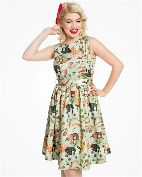 audrey swing dress audrey woodland fairy print swing dress vintage