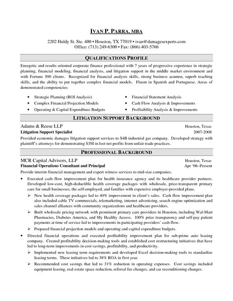 sle resume for investment banking analyst sle cover letter finance 28 images hospitality