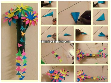 craft ideas for wall hanging flower wall hanging simple craft ideas