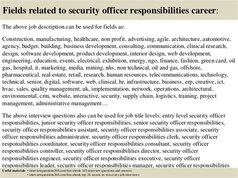 top 10 security officer responsibilities questions and answ