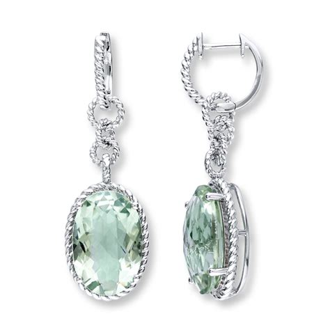 jared green amethyst earrings sterling silver