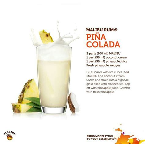malibu rum pina colada in honor of national pina colada