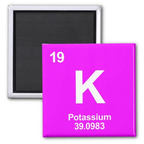 K Periodic Table by K Potassium Periodic Table Element Magnet Zazzle
