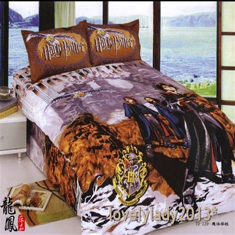 harry potter queen bed set harry potter single queen size bed quilt doona duvet cover