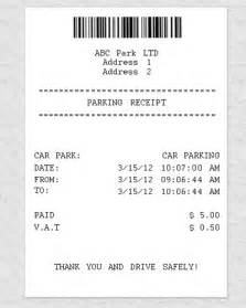 Parking Receipt Template Free by Airport Parking Receipt Template Quotes