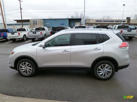 silver nissan rogue 2014 2014 brilliant silver nissan rogue sl awd 88667092 photo