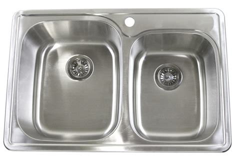 Top Mount Kitchen Sinks Stainless Steel 33 Quot Top Mount Drop In Stainless Steel Kitchen Sink Wctb3322 6040