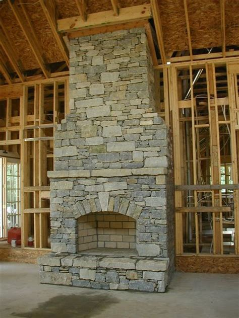 Outdoor Stacked Fireplace With Hearth Fireplaces Dry Stack Stone Fireplace Arch Rustic Fireplaces