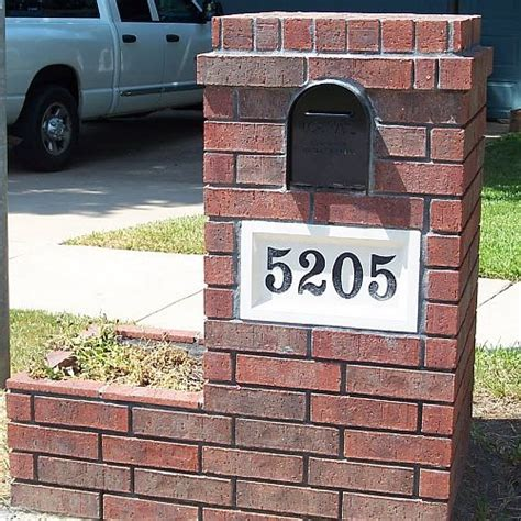 brick l post designs l post with address plaque house address number sign