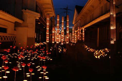 House Design Lighting Ideas usuki takeyoi bamboo lantern usuki city oita pref
