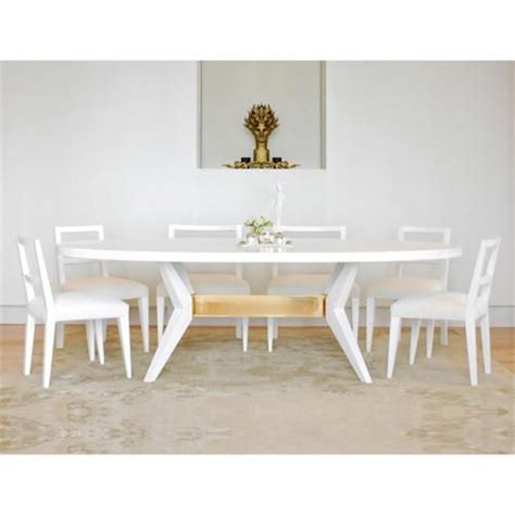 fulton oval dining table niedermaier shown in white