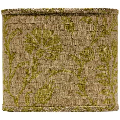 muted green muted green floral l shade 11x11x9 5 spider 5g609