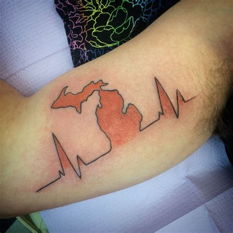 michigan outline tattoo ponogram 101 michigan outlines