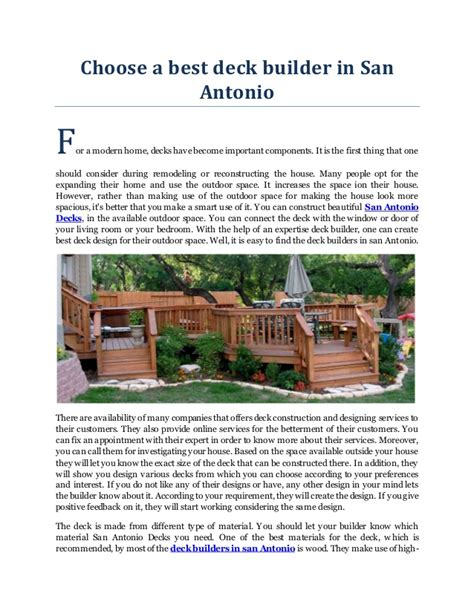 best deck builder best deck builder in san antonio