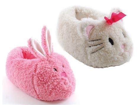 girls house shoes kids girls plush 3d animal slippers boots winter booties xmas gift size uk 9 3 ebay