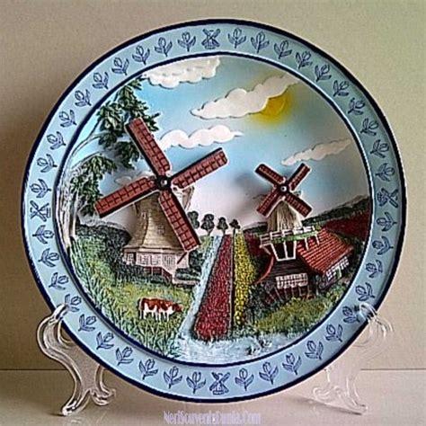 Pajangan Piring Porcelin Dari Belanda Untuk Souvenir Jual Souvenir Piring Pajangan Kincir Belanda