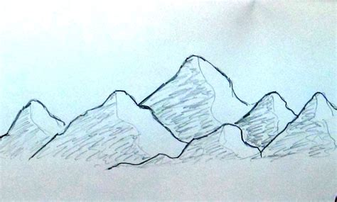 Sketches Mountains by Sketch Mountain Range Easy Tutorial Building