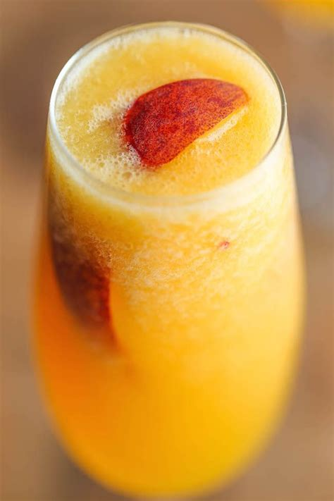 Frozen Peach Bellini Recipe Cocktail Recipes Frozen