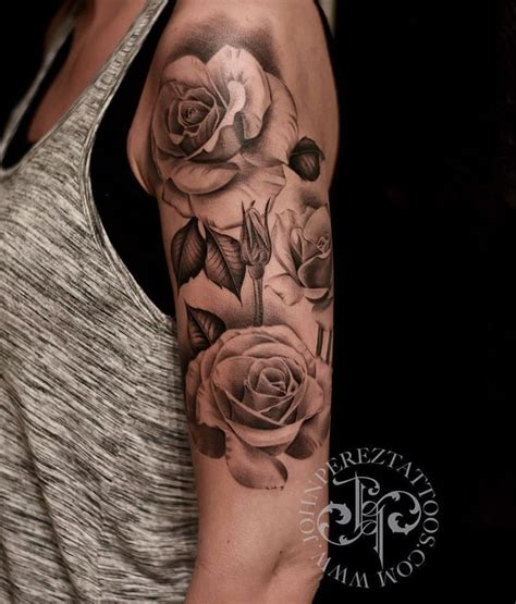 tattoo rose shading pinte