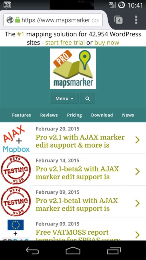 mobile version mobile version of mapsmarker launched 187 maps marker pro