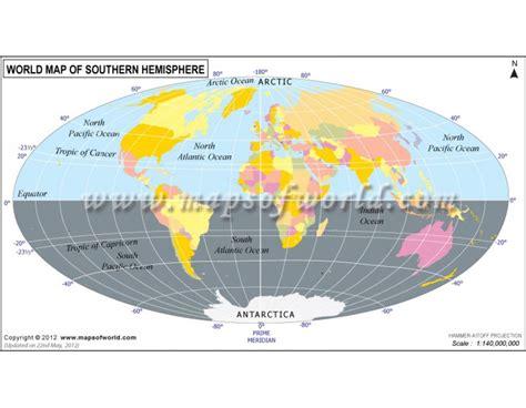 buy world map  southern hemisphere