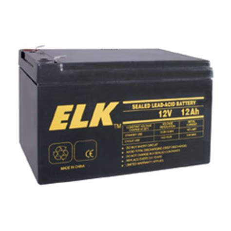 elk 12120 elk rechargeable sealed lead acid battery 12v 12ah