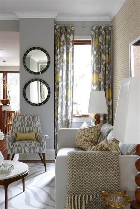 West Elm Safari Rug Yellow And Gray Curtains Contemporary Living Room