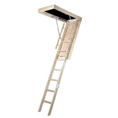 werner 8 ft 25 in x 54 in wood attic ladder with 250