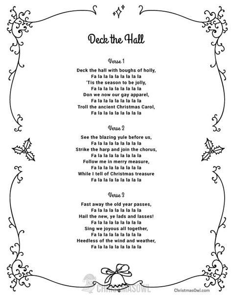 aab pattern song lyrics best 25 deck the halls lyrics ideas on pinterest deck
