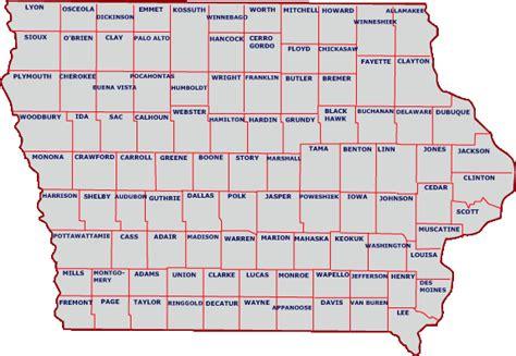 map of iowa counties iowa county map