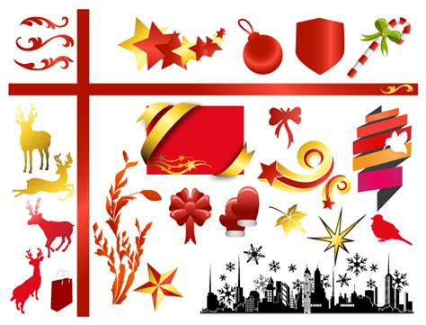 christmas adornment vector design 04 vector christmas