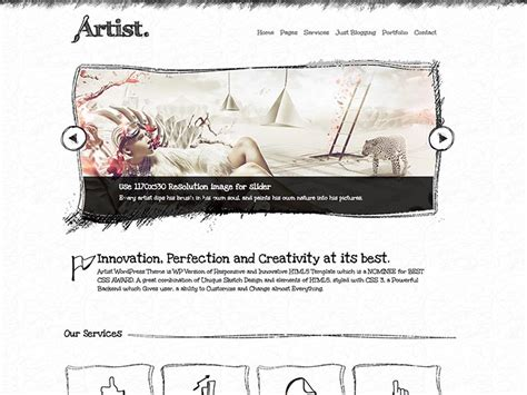 themes wordpress artist 21 best portfolio wordpress themes for artists
