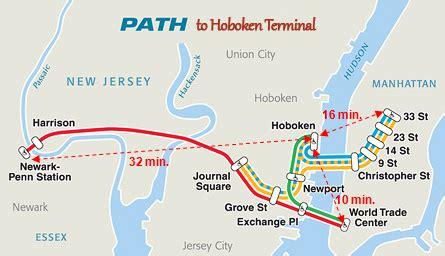 nj path map image gallery hoboken path
