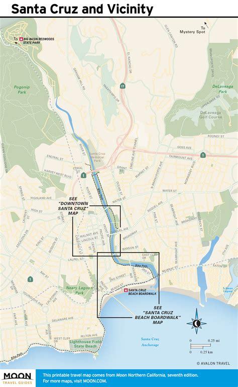 santa usa map pacific coast route through santa california road