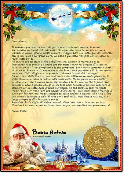 lettere natalizie la lettera di babbo natale letterina