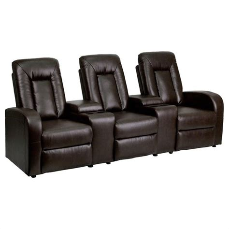 theater style recliners flash furniture 3 seat home theater recliner in black